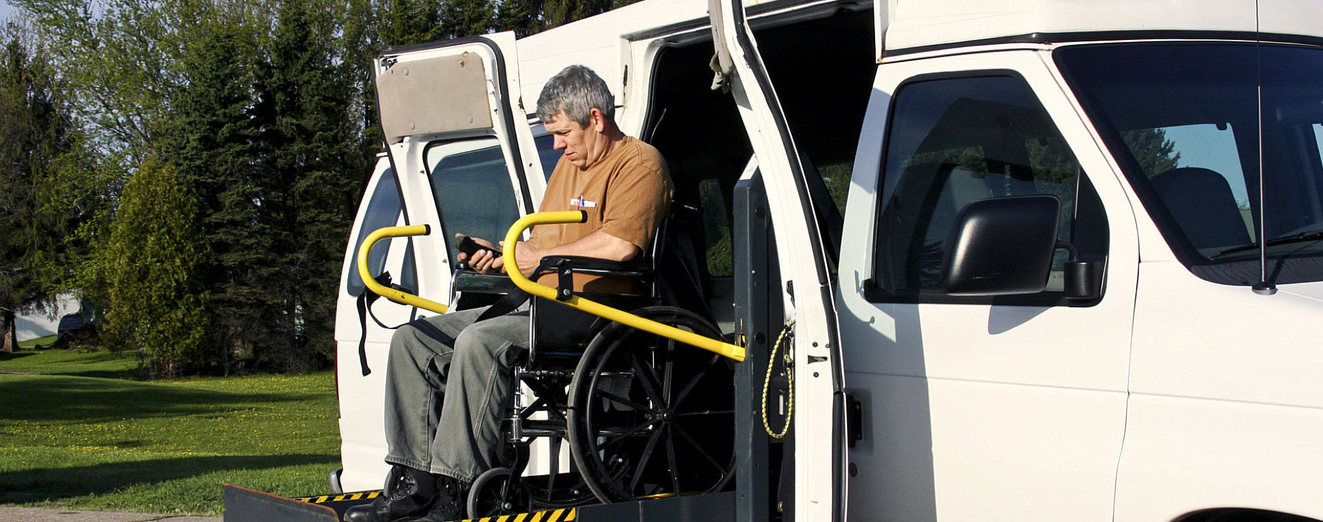 patient in the van